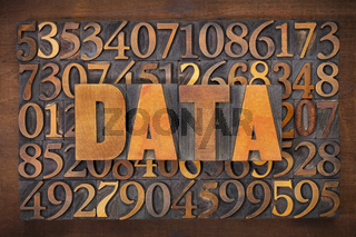 data word in wood type