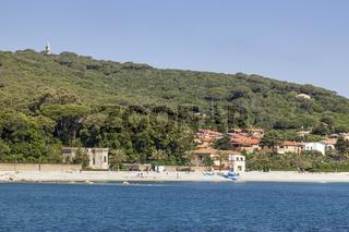 Strand von Cavo, Elba, Toskana, Italien