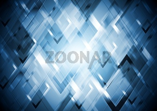 Abstract glossy tech vector background
