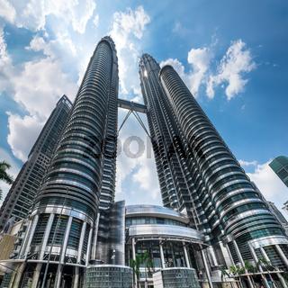 Petronas Twin Towers at Kuala Lumpur City Center. Malaysia