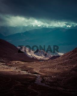 Himalaya high mountain landscape. India, Ladakh
