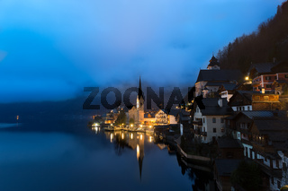Dawn at Lake Hallstatt, Salzkammergut, Austrian Alps