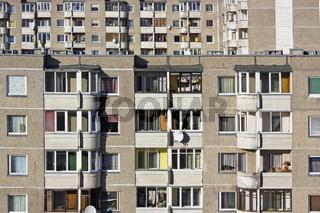 Windows of mass northern building