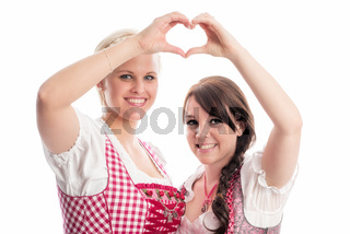 zwei bayrische mädchen