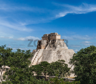 Anicent mayan pyramid (Pyramid of the Magician