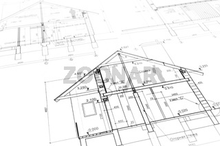 New home plan blueprint