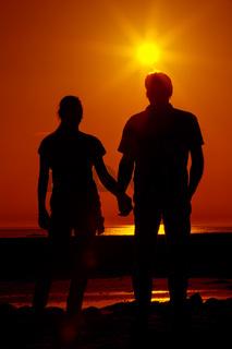 Zwei im Sonnenuntergang 4
