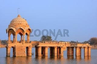 Gadi Sagar temple at Gadisar lake, Jaisalmer, India