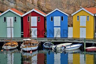 Smögen - bunte Bootshäuser - Schweden