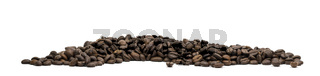 Panoramic image of coffee beans