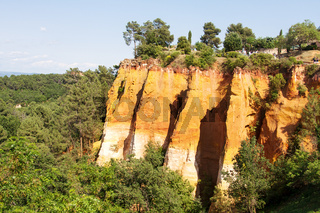 Ocher quarries of Roussillon Southern France