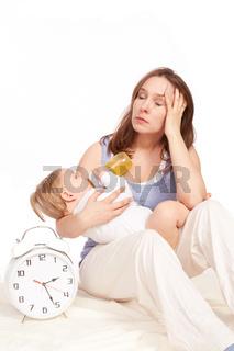 Mutter uebermuedet
