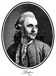Johann Georg Sulzer, 1720-1779, a Swiss theologian and philosopher of the Enlightenment,