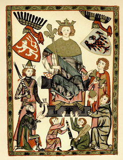 Wenceslaus II, Wenceslas I, or Václav, 1271 - 1305, King of Bohemia and Poland