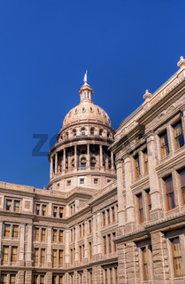 Vertical Texas State Capitol Building