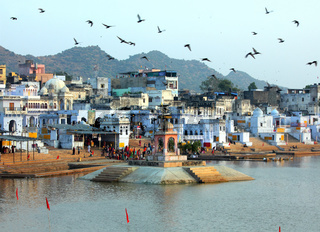 holy lake in Pushkar India