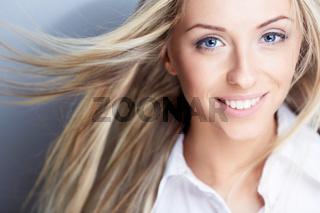 Flying hair