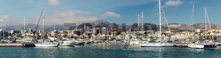 Benalmadena, Spain-19 December, 2013:Day view of Puerto Marina, that has won the title of 'Best Marina in the World' several times. It has a very unusual and modern architecture on 19 december, 2013