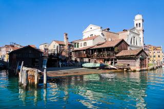 alte Gondelwerft in Venedig, Italien
