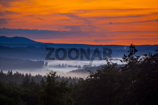 Abendhimmel Harzlandschaft