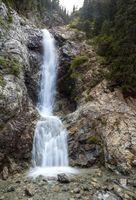 Waterfall Barskoon in Tien Shan, Kirgizstan