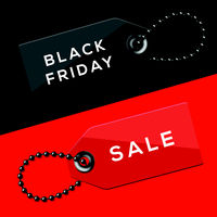 Black Friday sales tags, vector Eps10 illustration