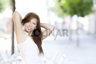 Junge Frau beim relaxen