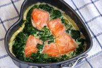 Tarte mit Lachs und Spinat