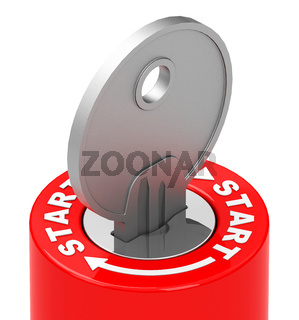 the start key