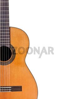 copyspace and half of classical guitar