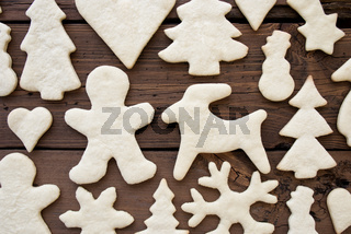 Water Biscuit Texture on Wooden Background