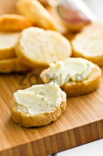 bruschetta with herb butter