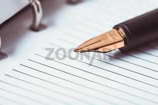 Metal feather pen