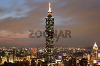Taipeh Taiwan Panorama mit Taipei 101