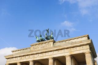 Quadriga auf dem Brandenburger Tor, Berlin, Deutschland