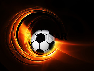 burning football/soccer ball