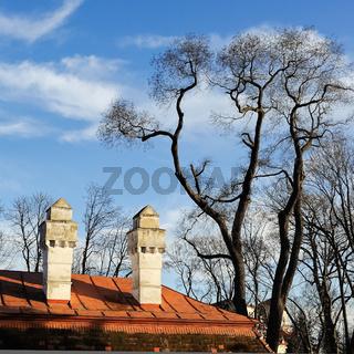 Barocke Schornsteine bei Schloss Eisenstadt