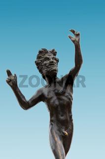 Jugendstil Bronze Gott