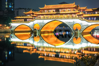 beautiful chengdu anshun bridge closeup