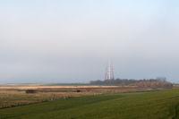 Leuchtturm Campen im Nebel