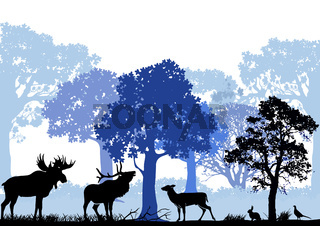 Wald mit Tieren.eps