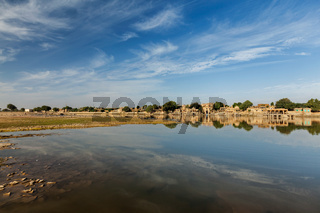 Gadi Sagar - artificial lake. Jaisalmer