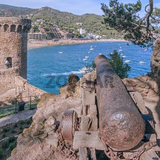 Fortifications At Tossa De Mar Catalonia Spain