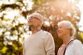 senior couple in park