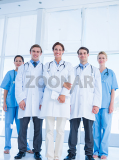 Doctors standing together at hospital