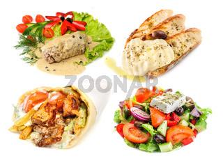 Greek and mediterranean fast street food