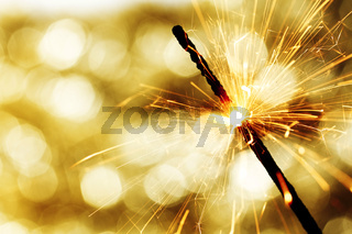 sparkler on bokeh background sparkler on bokeh background
