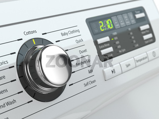 Control panel of washing machine.