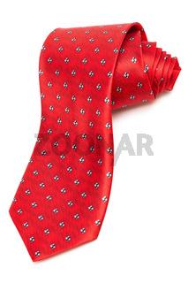 modern red tie