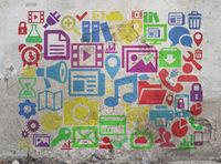 Icons und Symbole zum Thema Computer und Internet